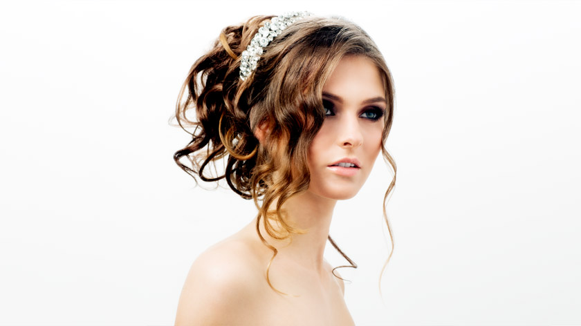 Lesson 4 of the MHDPro Romantic Bridal Hair Course - Soft Curls Updo