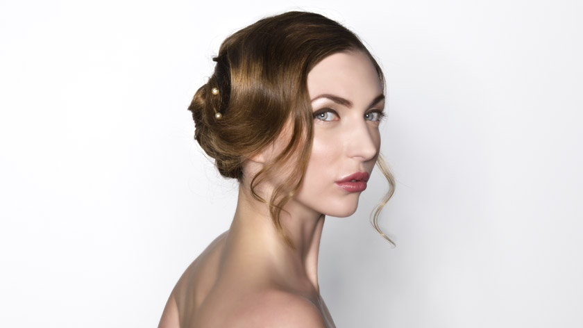 Lesson 5 of the MHDPro Romantic Bridal Hair Course - Classic Bridal Curls Updo